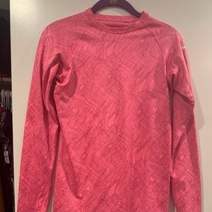 Nike pro combat long sleeve small hot pink